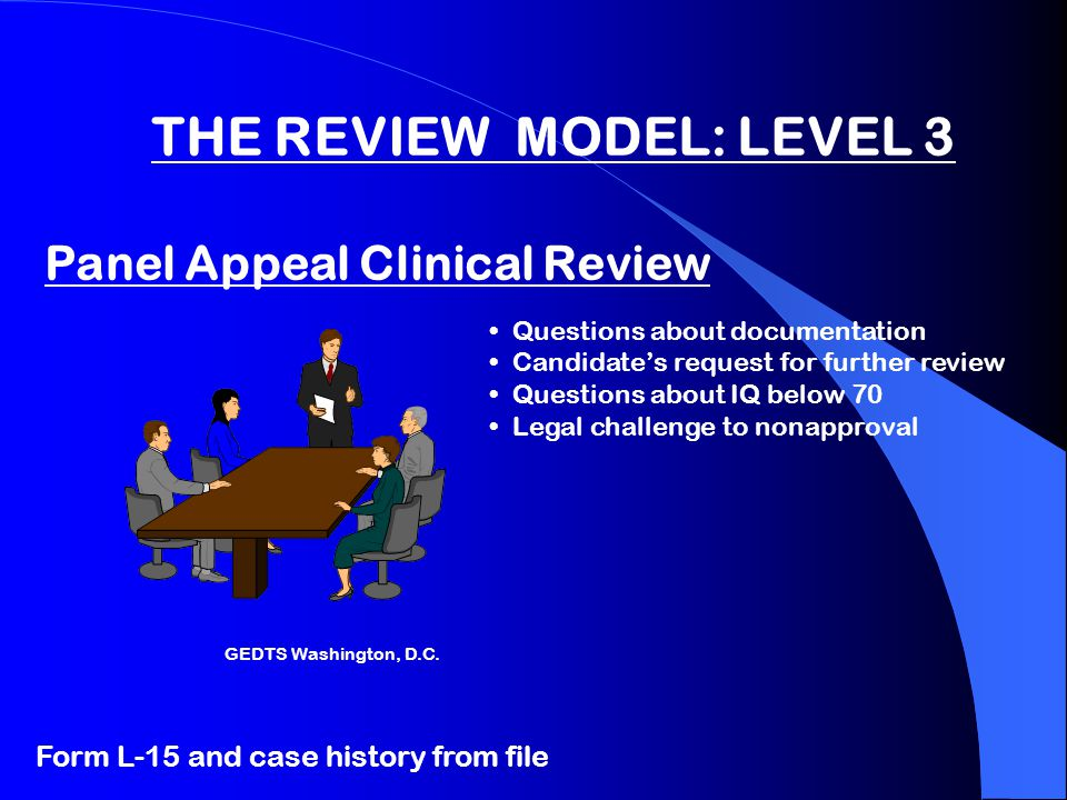 Process: Level 2:Expert Level 3: Appeals Panel Clinical Review