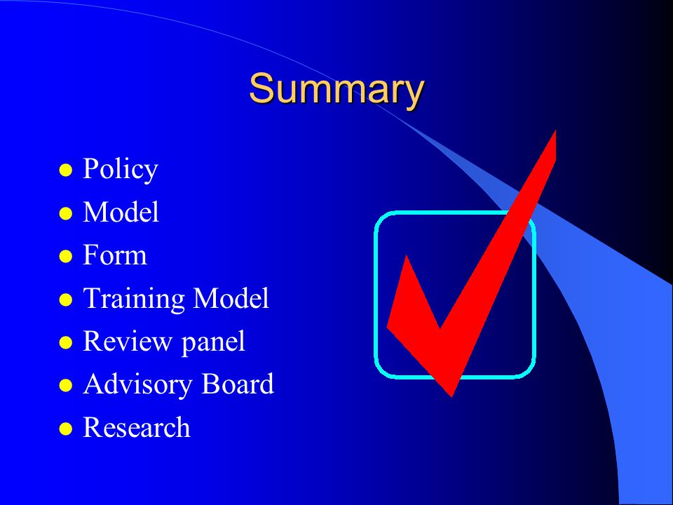 Level 4:Review/Advisory Board
