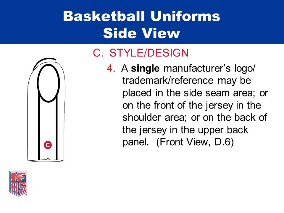 Basketball Uniforms Side View C.STYLE/DESIGN 4.