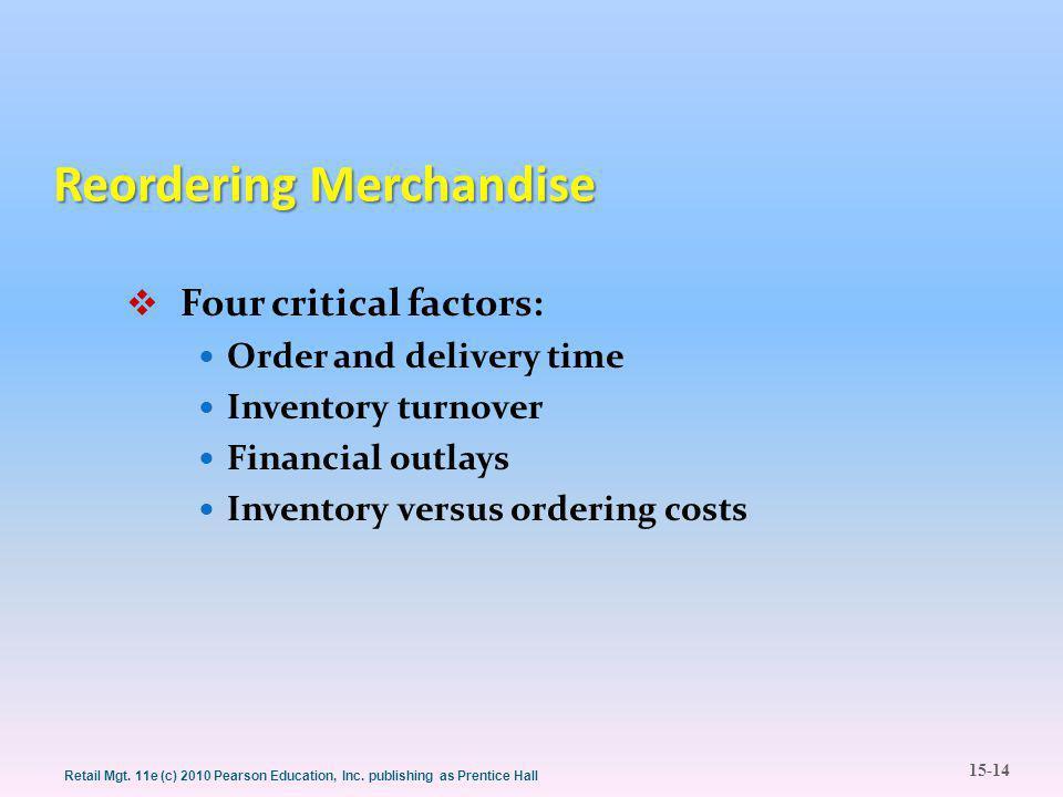15-14 Retail Mgt. 11e (c) 2010 Pearson Education, Inc.