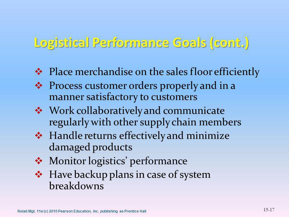 15-17 Retail Mgt. 11e (c) 2010 Pearson Education, Inc.