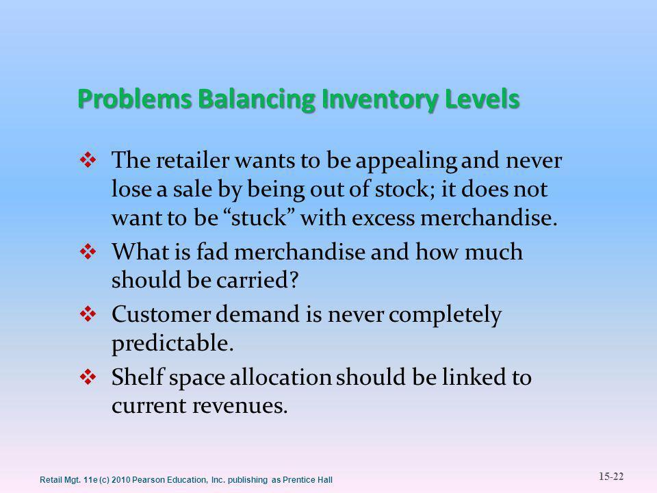15-22 Retail Mgt. 11e (c) 2010 Pearson Education, Inc.