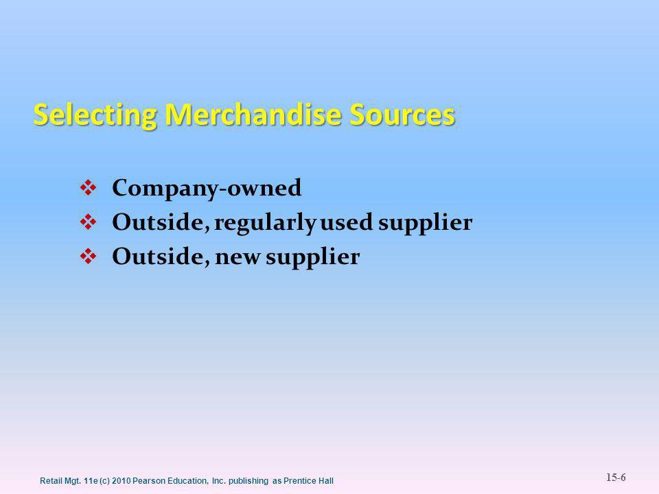 15-6 Retail Mgt. 11e (c) 2010 Pearson Education, Inc.