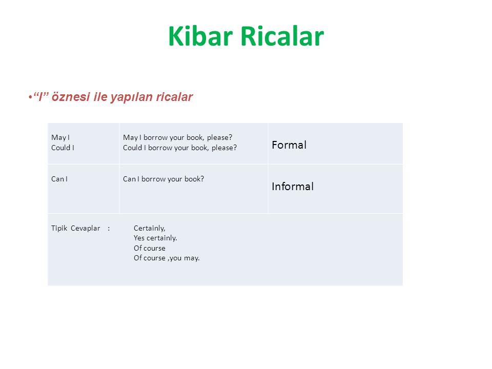 Kibar Ricalar May I Could I May I borrow your book, please.