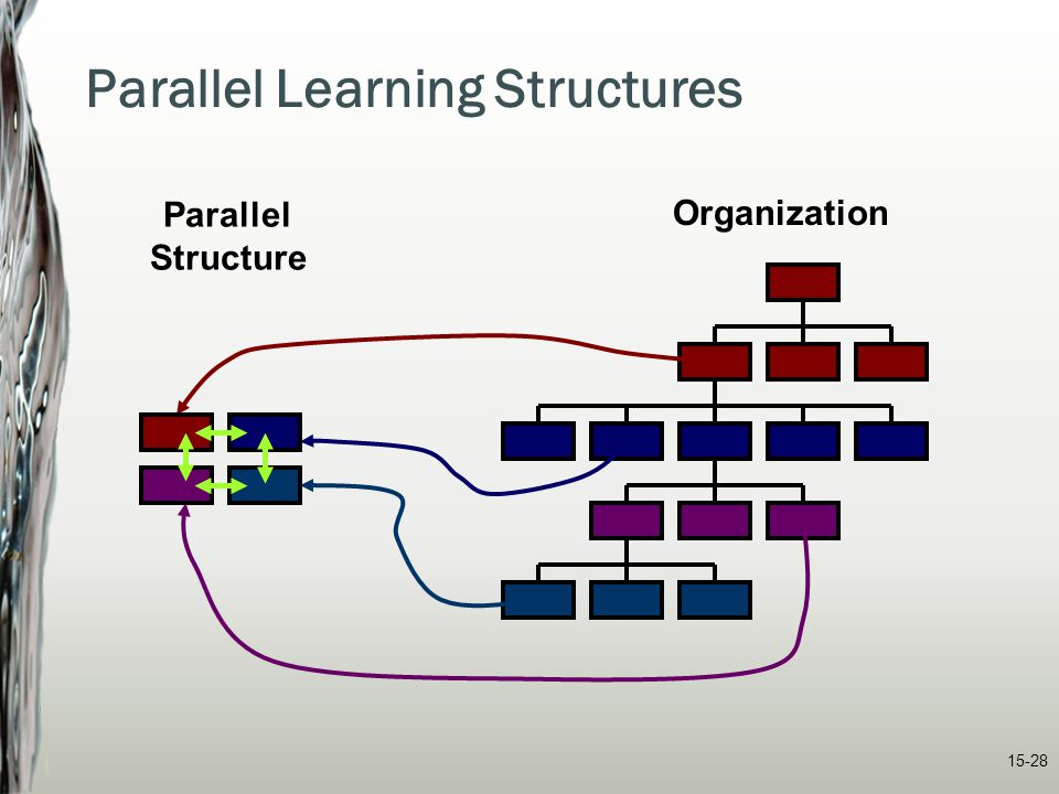 15-28 Organization Parallel Structure Parallel Learning Structures