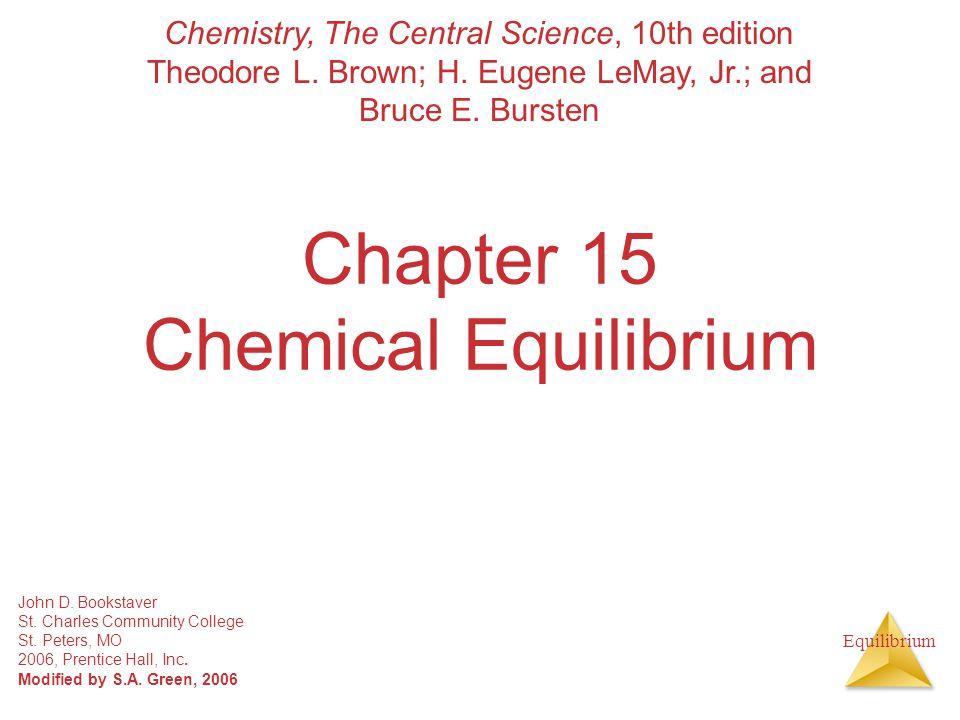 Equilibrium The Equilibrium Constant At equilibrium Rearranging gives: