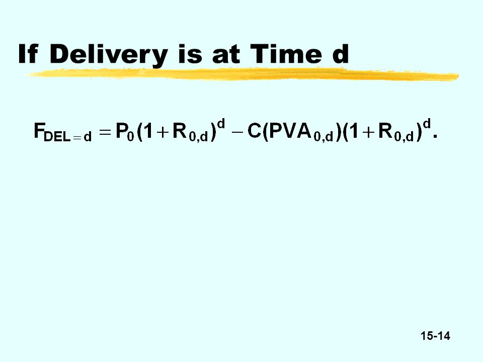 15-14 If Delivery is at Time d