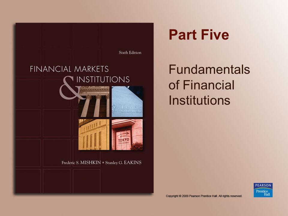 Part Five Fundamentals of Financial Institutions