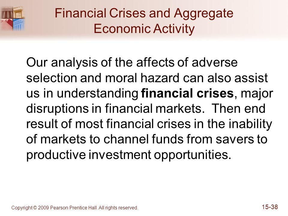 Copyright © 2009 Pearson Prentice Hall. All rights reserved. 15-38 Financial Crises and Aggregate Economic Activity Our analysis of the affects of adv