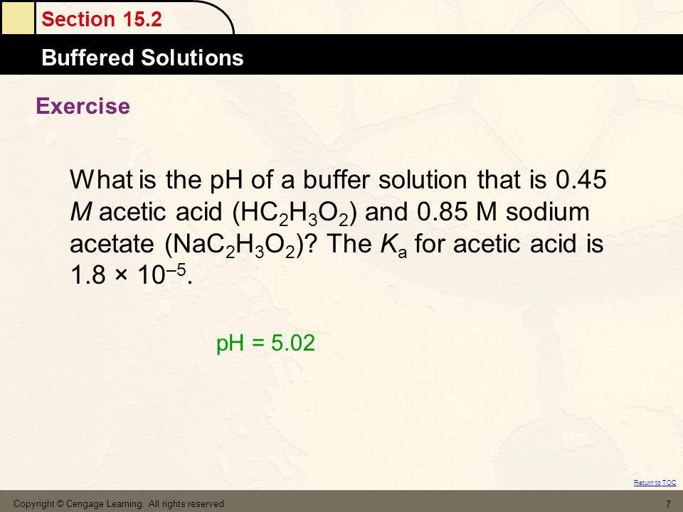 Section 15.4 Titrations and pH Curves Return to TOC Copyright © Cengage Learning.