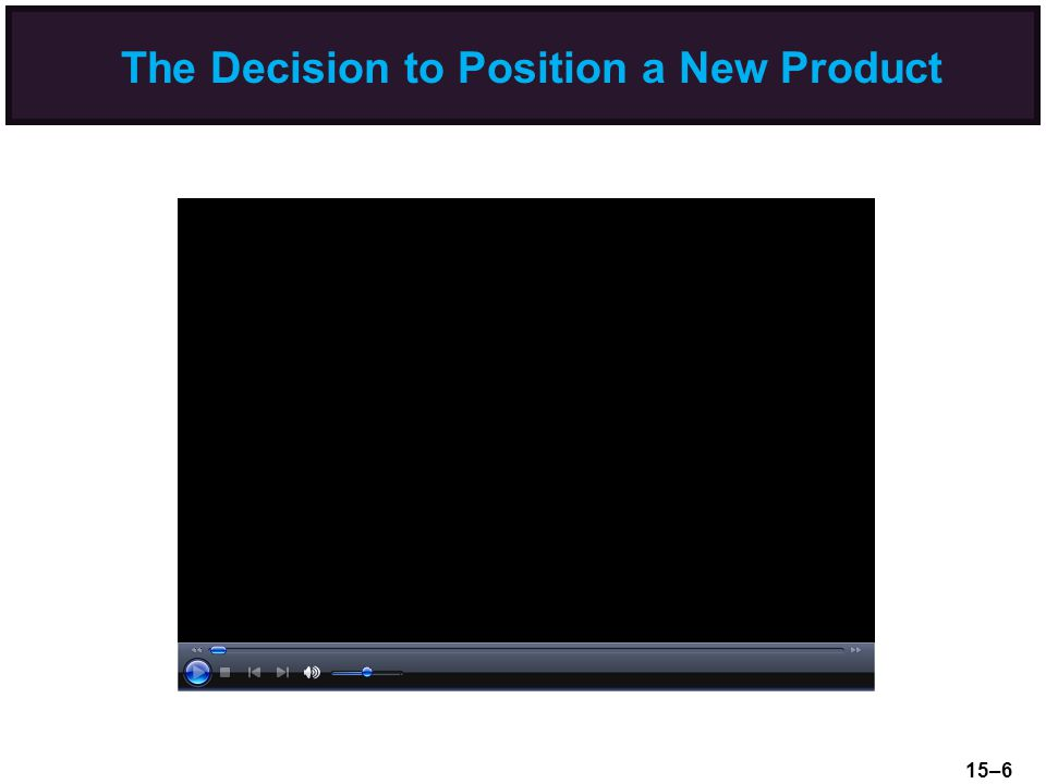 The Decision to Position a New Product 15–6