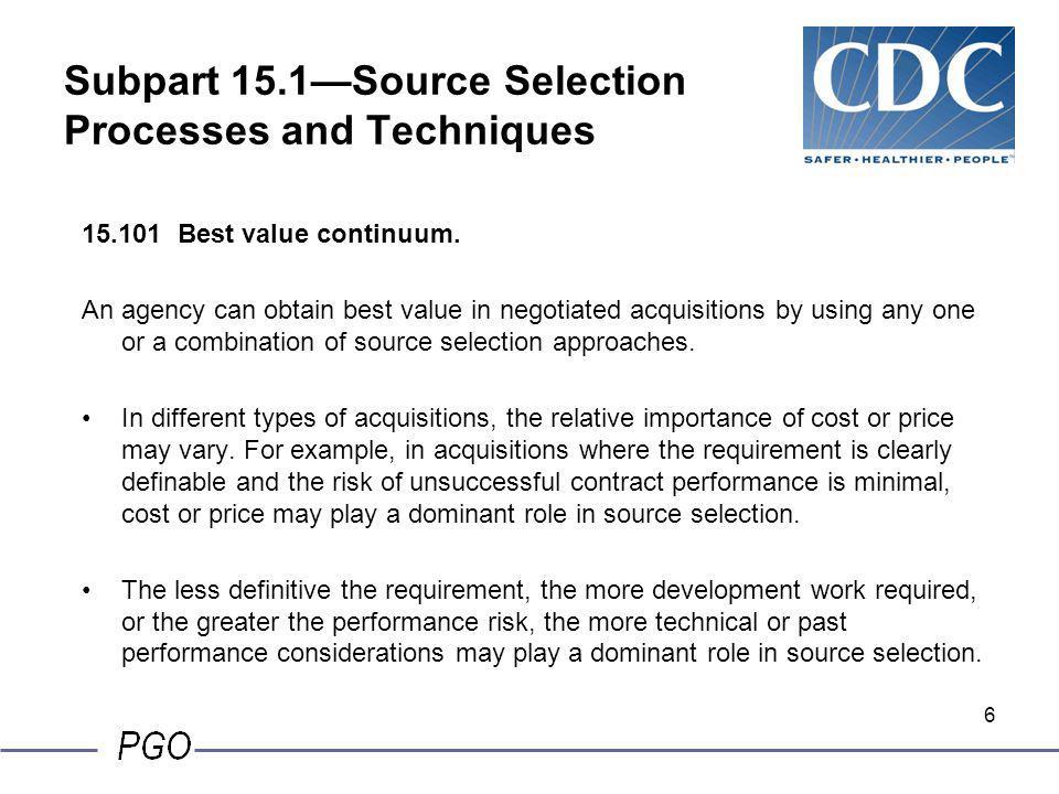 36 15.304 Evaluation factors and significant subfactors, cont.