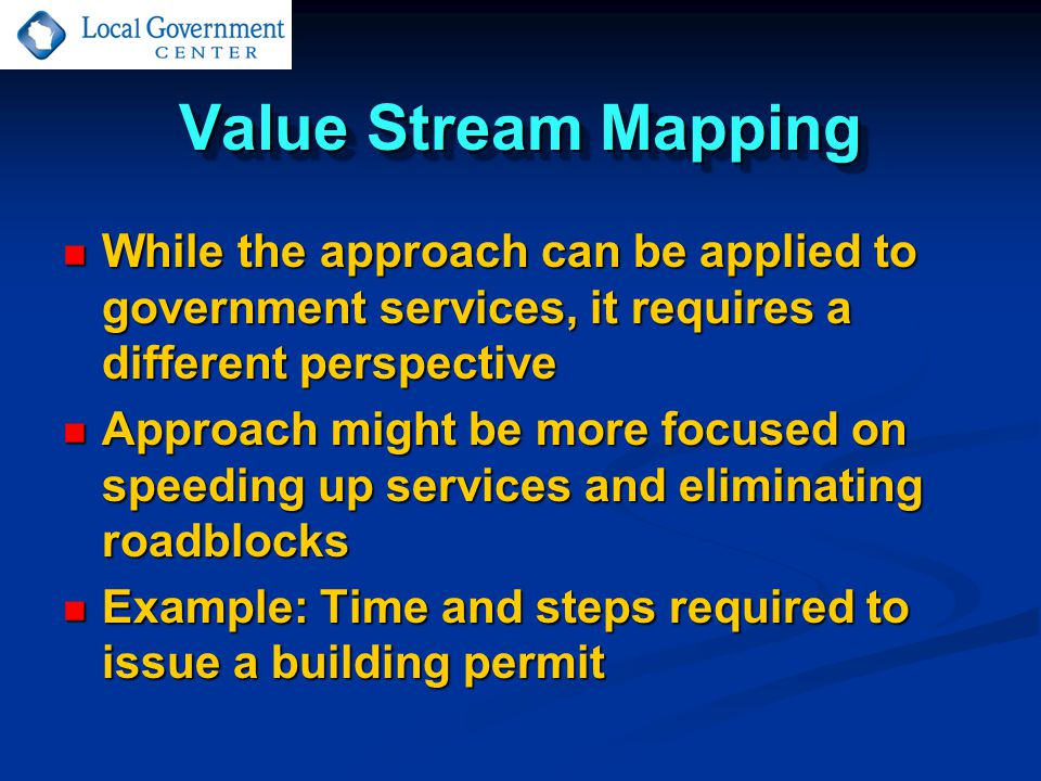 While the approach can be applied to government services, it requires a different perspective While the approach can be applied to government services