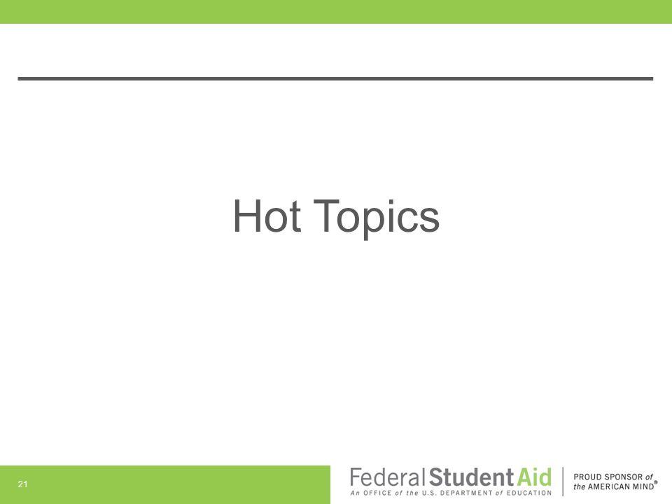 Hot Topics 21