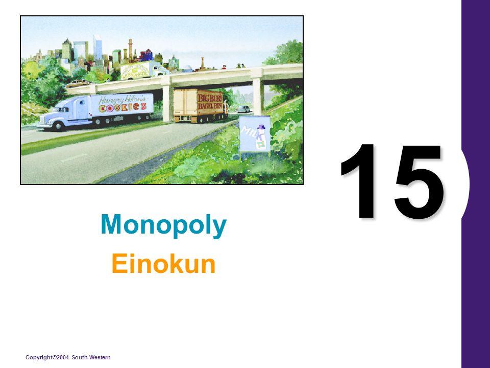 Copyright©2004 South-Western 15 Monopoly Einokun