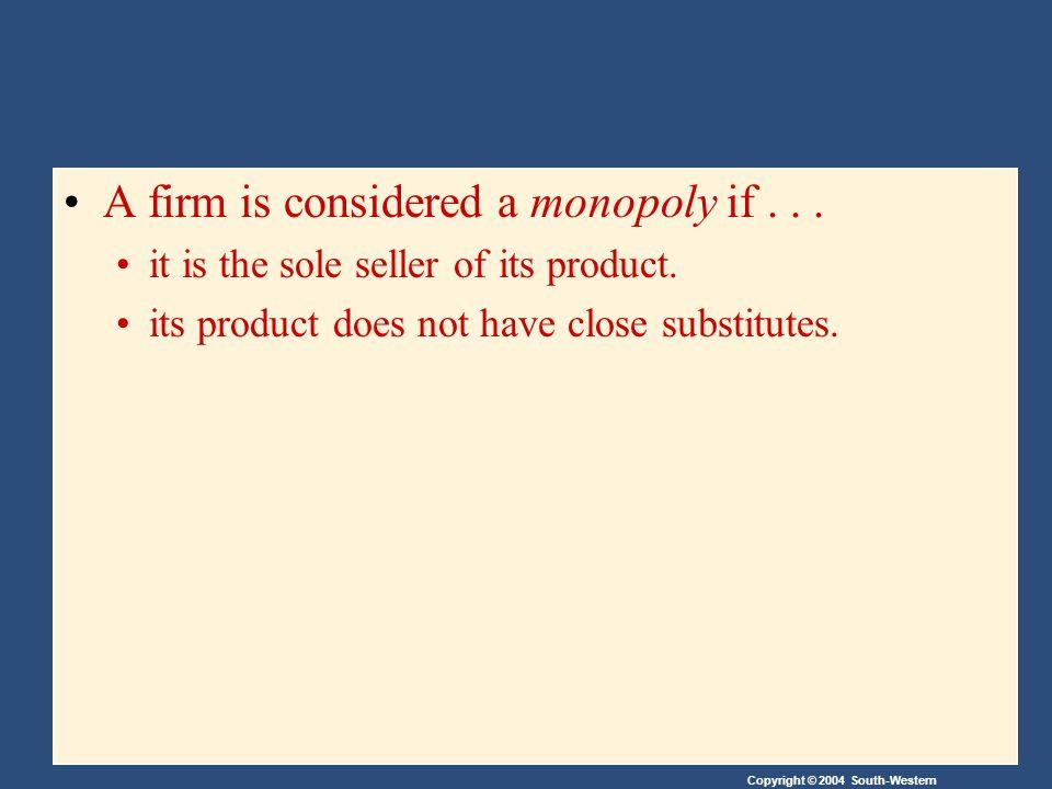 Copyright © 2004 South-Western Increasing Competition with Antitrust Laws Antitrust laws (löggjöf gegn einokun og hringamyndun) are a collection of statutes (reglugerðasöfn) aimed at curbing monopoly power (setja umgjörð um einokunarvald).