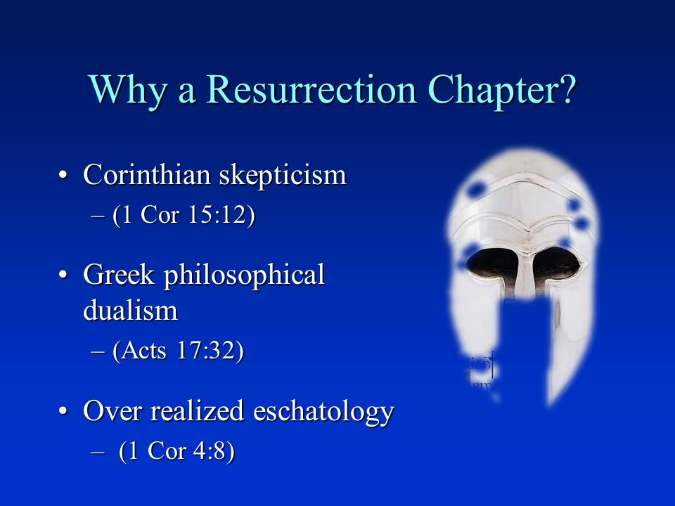 Why a Resurrection Chapter.