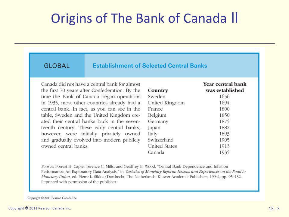 Copyright  2011 Pearson Canada Inc.15 - 14 U.S. Federal Reserve System U.S.