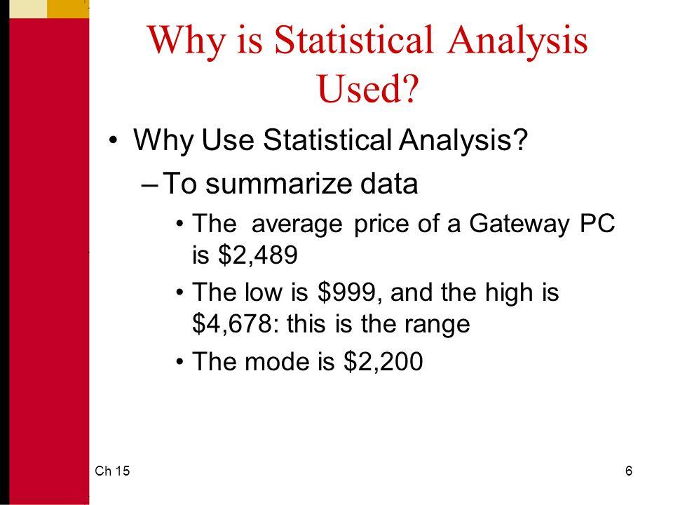 Ch 1517 Understanding Data Via Descriptive Analysis Measures of Variability: