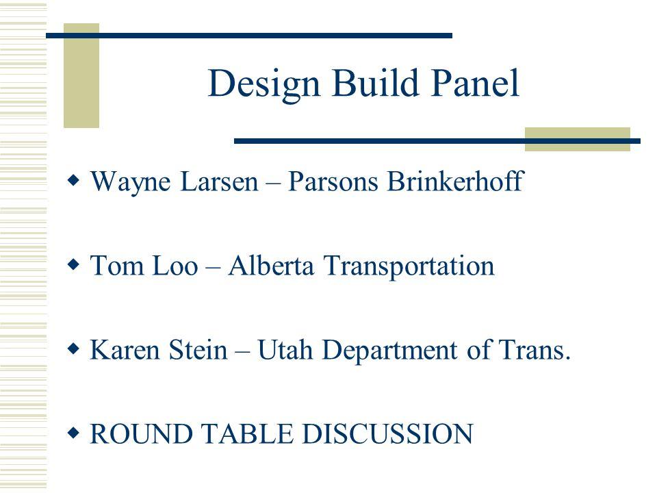 DB Consultant Perspective C. Wayne Larsen, SR/WA, R/W-AC