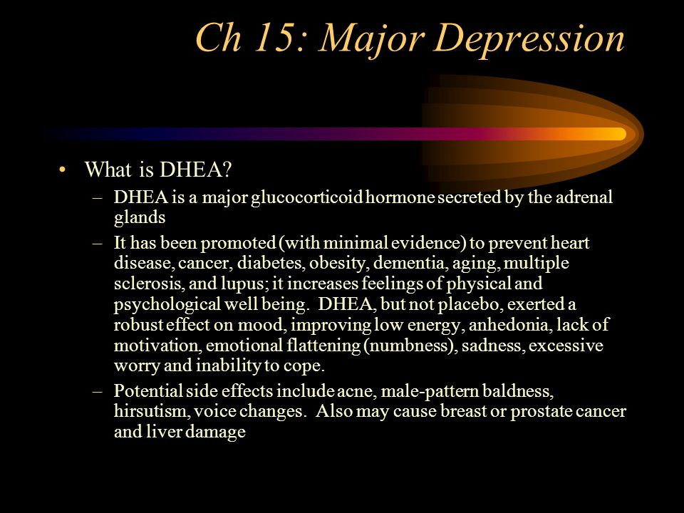 Ch 15: Major Depression Antidepressants and Children –TCA's are considered no more effective than placebo for MDD –SSRI's have efficacy in treatment for 13 different conditions including depression and OCD Antidepressants and Anxiety Disorders –TCA's, MAOI's, SSRI's and venlafaxine XR (effexor) are all in use for anxiety disorders.