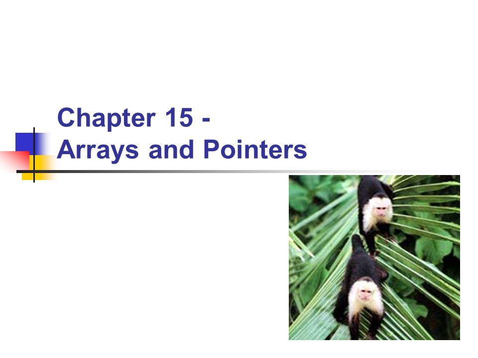 BYU CS/ECEn 124Arrays and Pointers12 Global Array Example int array[10]; int x; int main() { for (x = 0; x < 10; x++) { array[x] = x; } return 0; } main: 0x806a: 4382 0214 CLR.W &x 0x806e: 90B2 000A 0214 CMP.W #0x000a,&x 0x8074: 340C JGE (C$DW$L$main$2$E) C$DW$L$main$2$B, C$L1: 0x8076: 421F 0214 MOV.W &x,R15 0x807a: 5F0F RLA.W R15 0x807c: 429F 0214 0200 MOV.W &x,0x0200(R15) 0x8082: 5392 0214 INC.W &x 0x8086: 90B2 000A 0214 CMP.W #0x000a,&x 0x808c: 3BF4 JL (C$L1) C$L2, C$DW$L$main$2$E: 0x808e: 430C CLR.W R12 0x8090: 4130 RET Arrays