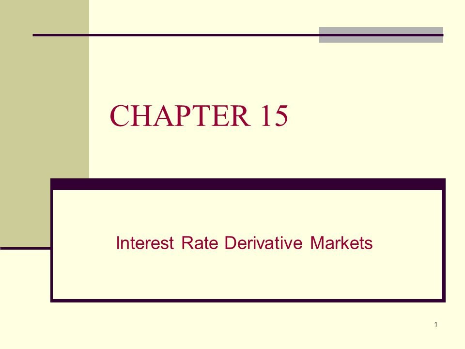 2 CHAPTER 15 OVERVIEW This chapter will: A.Describe the plain vanilla interest rate swaps B.