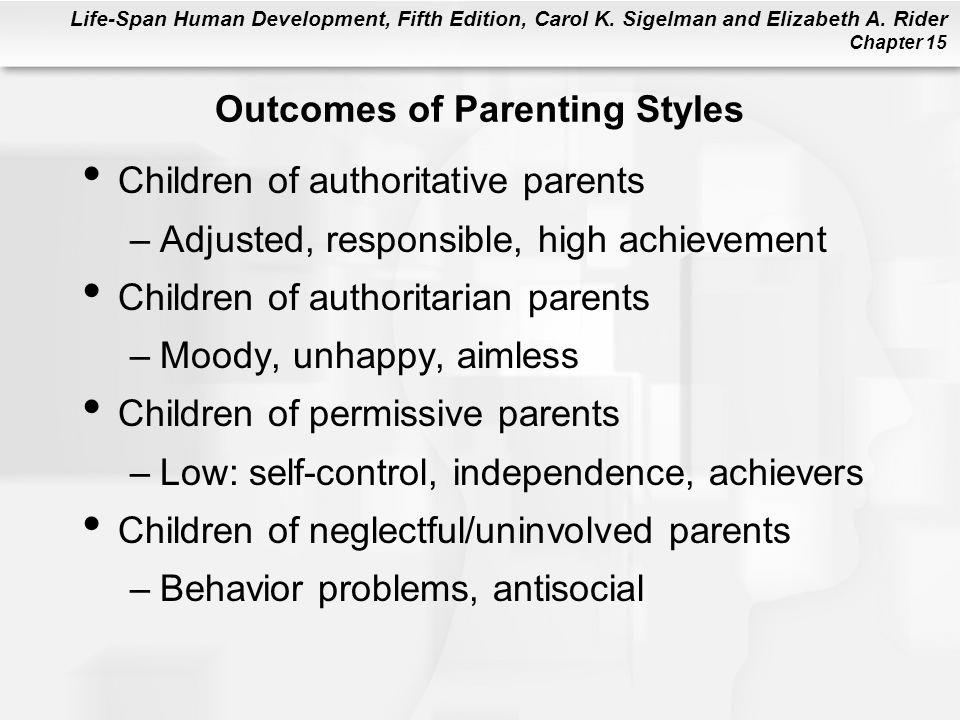 Life-Span Human Development, Fifth Edition, Carol K. Sigelman and Elizabeth A. Rider Chapter 15