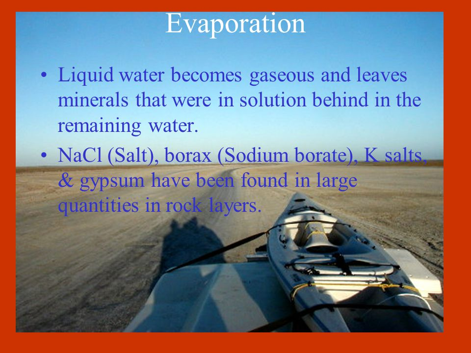 Sedimentation Weathered particles form sediments that are deposited on riverbanks, deltas, & the sea floor. Sedimentation has created important deposi