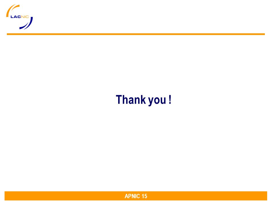 APNIC 15 Thank you !