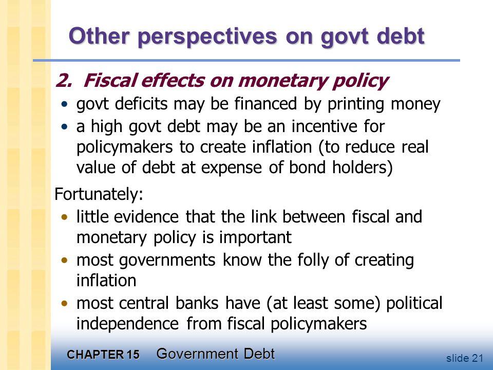 CHAPTER 15 Government Debt slide 21 Other perspectives on govt debt 2.