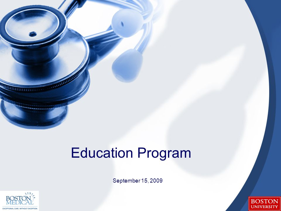 September 15, 2009 Education Program