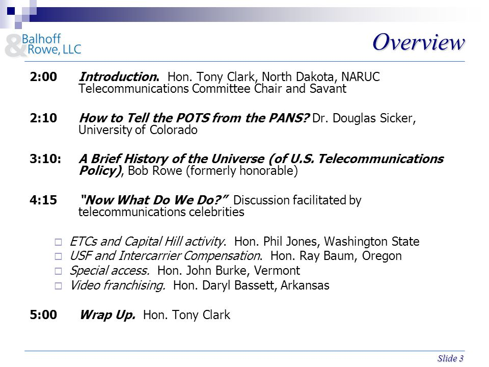 Slide 3 Overview 2:00Introduction.Hon.