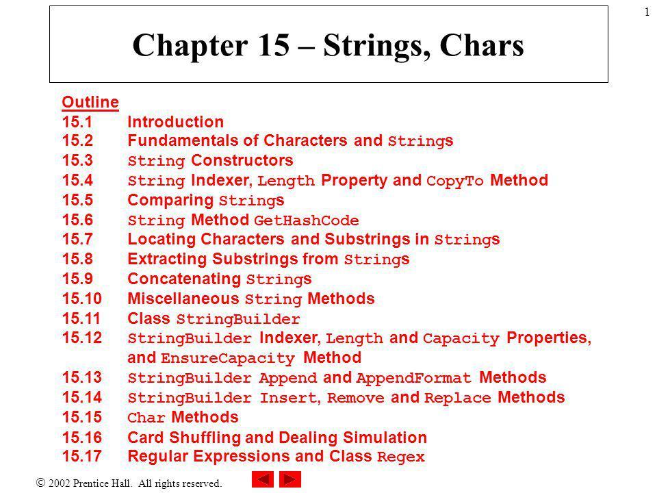  2002 Prentice Hall. All rights reserved. Outline 12 StringHashCode.c s Program Output