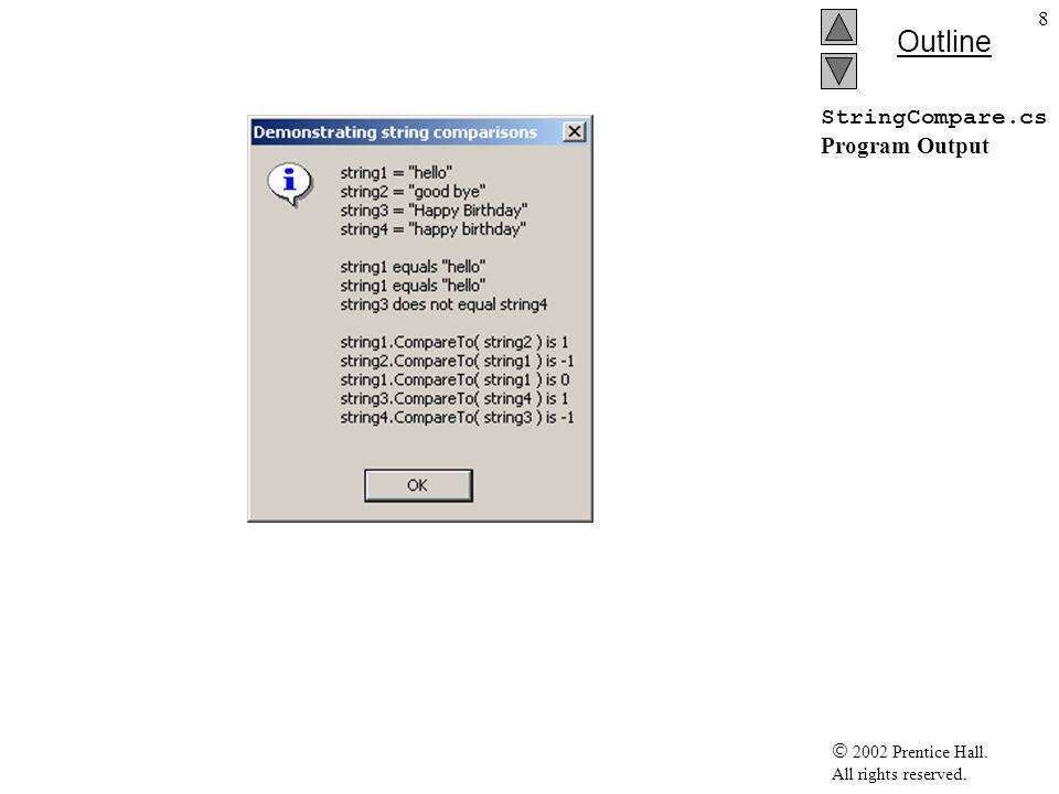  2002 Prentice Hall.All rights reserved. Outline 29 StringBuilderApp endFormat.cs 1 // Fig.