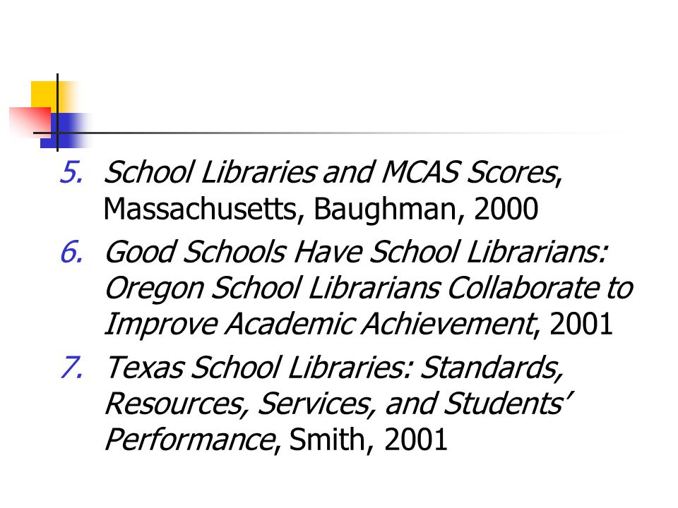 Use the library to boost your test scores and student learning.