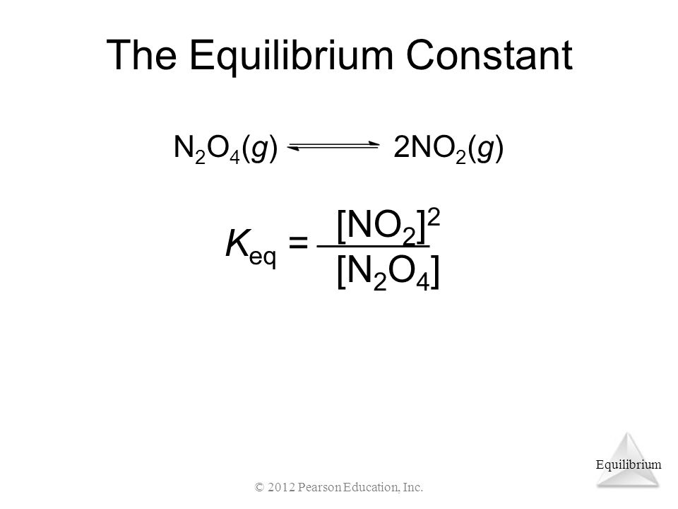 Equilibrium The Equilibrium Constant © 2012 Pearson Education, Inc.
