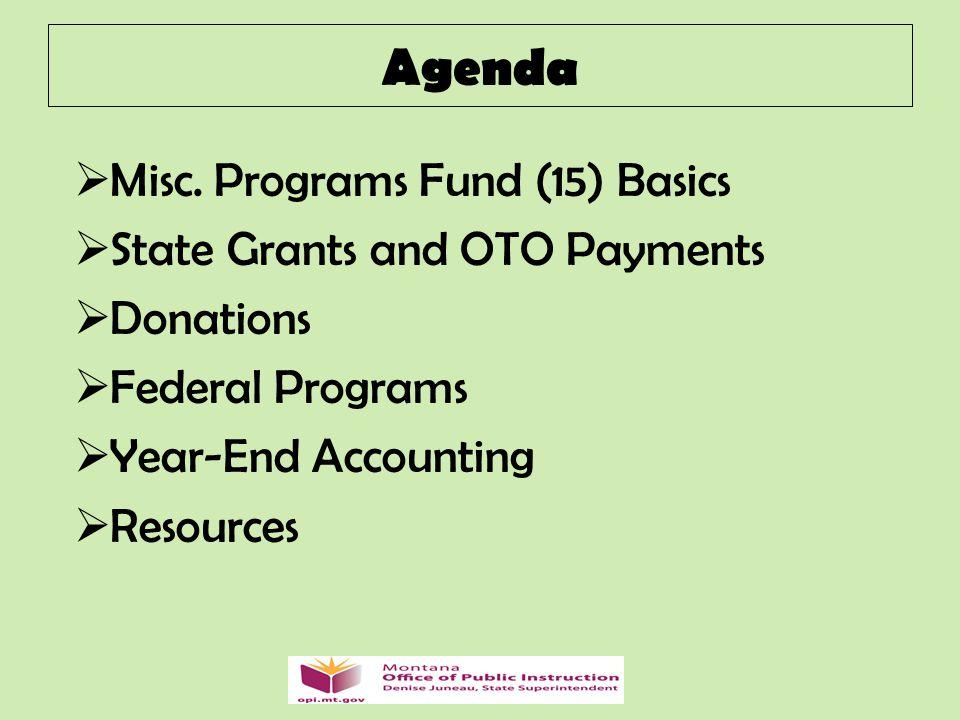 Agenda  Misc.