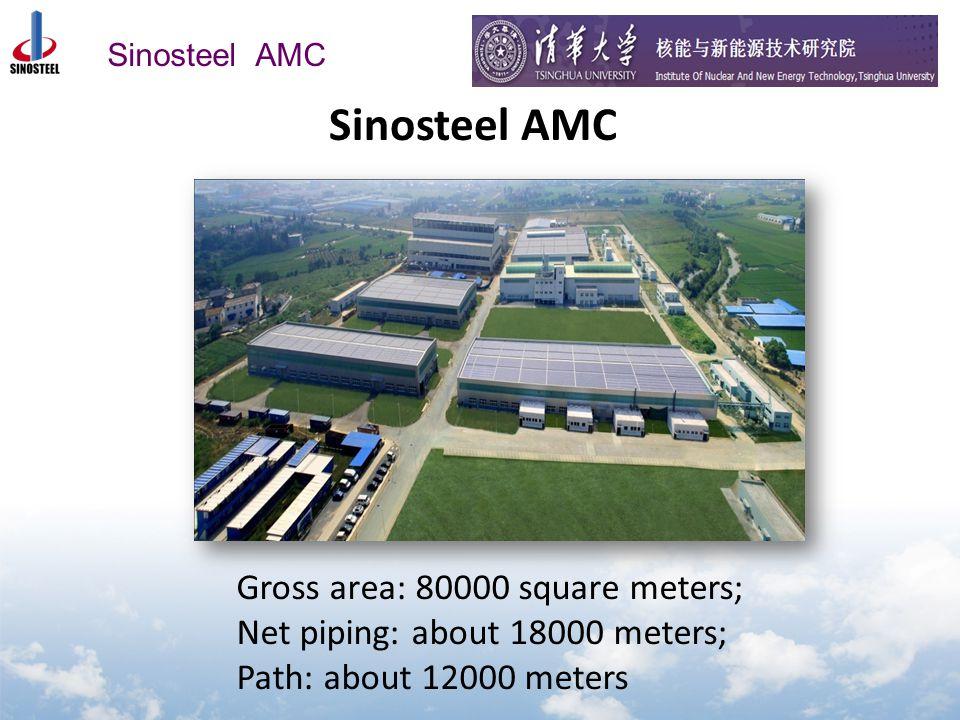 Sinosteel AMC Gross area: 80000 square meters; Net piping: about 18000 meters; Path: about 12000 meters Sinosteel AMC