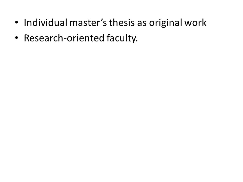 Research-oriented faculty.