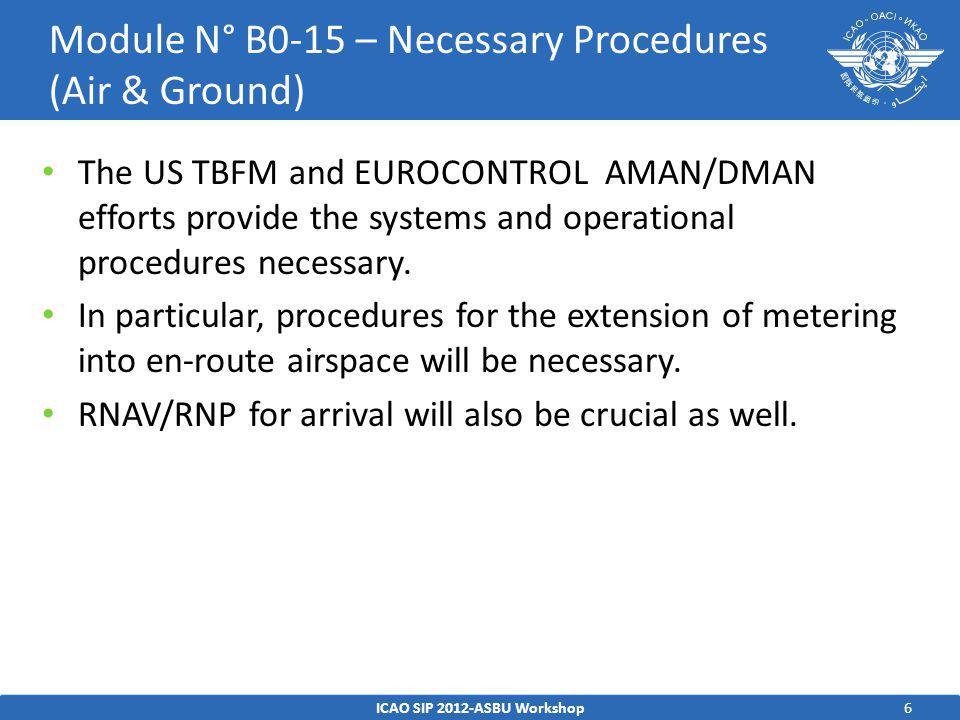 7 Avionics – No Avionics capability is required in support of the time- based metering for Departure.