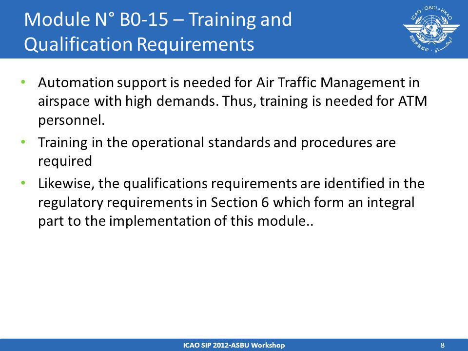 8 Automation support is needed for Air Traffic Management in airspace with high demands.