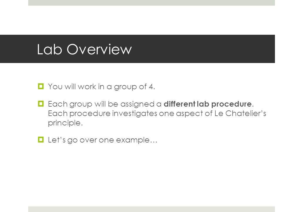 Lab Overview  You will work in a group of 4.