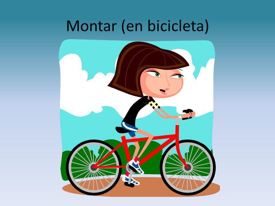 Montar (en bicicleta)