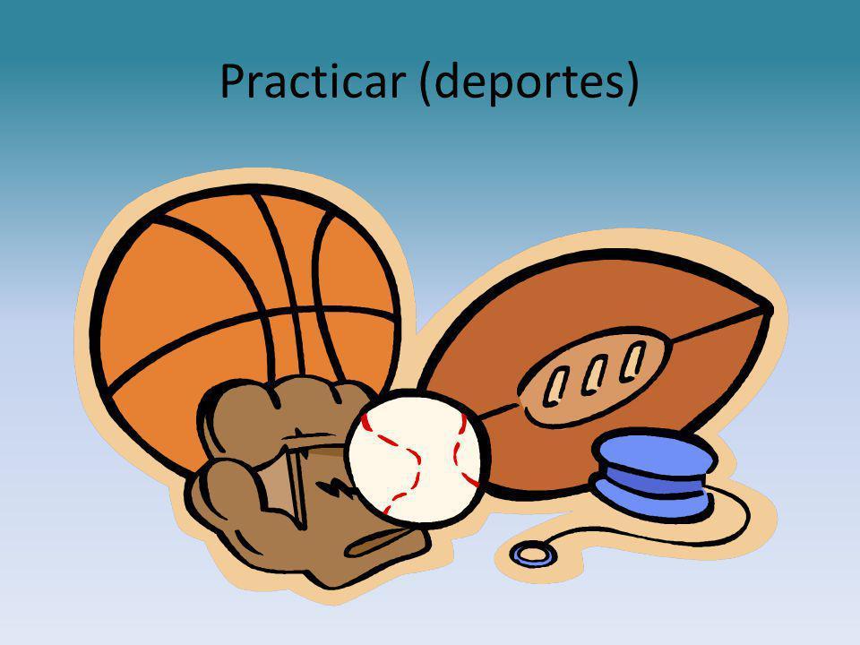 Practicar (deportes)