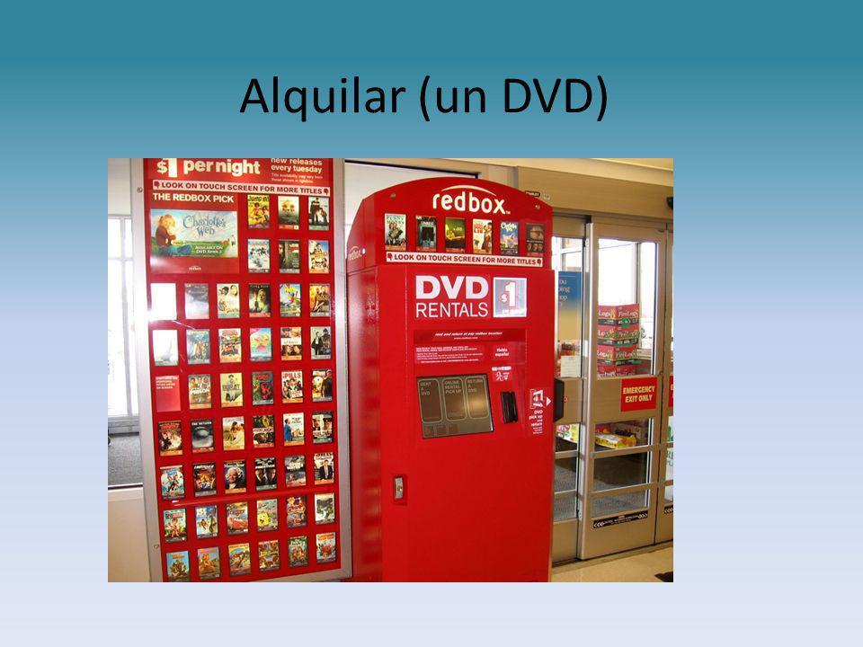 Alquilar (un DVD)