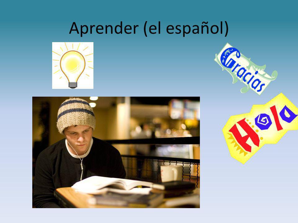 Aprender (el español)