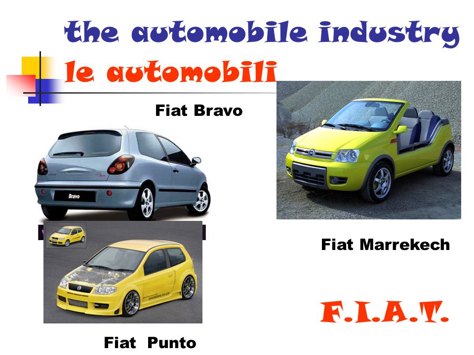 le automobili Fiat Bravo Fiat Marrekech Fiat Punto F.I.A.T. the automobile industry