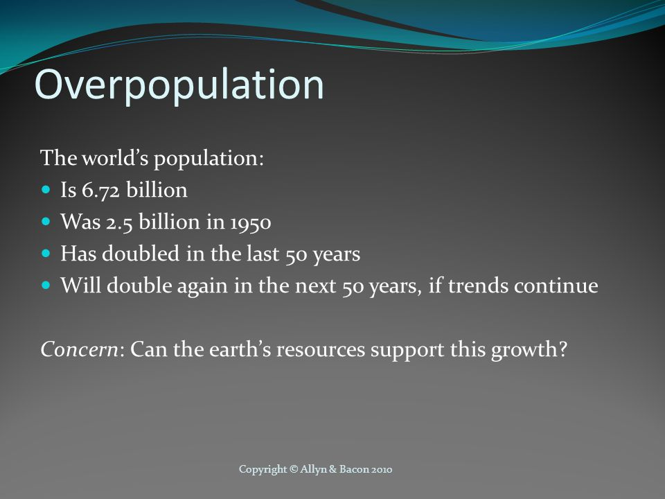 Population and the Environment Environmental Degradation Disruptions to the environment that have negative consequences for ecosystems Causes As humans pursue economic development and growth, they cause environmental degradation Removing natural resources and increasing pollution