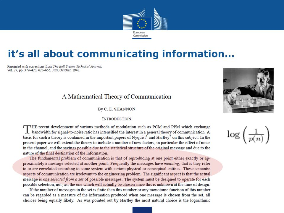 it's all about communicating information…